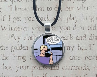 Hawkeye Clint Barton- comic necklace