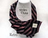 Tie Collar Necklace,Unique, Repurposed Necktie,Art Accessory,Necktie Necklace,Button Art, Statement Necklace, Collar, Scarf, Refashioned Tie