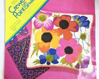 Vintage floral crewel kit