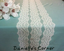 Ivory lace table runner wedding lace runner ivory lace wedding table decor party bridal shower