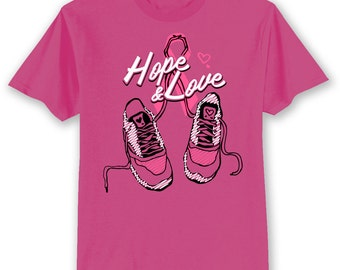 BCA Breast Cancer Awareness Walk Shoes Ribbon Pink T Shirt