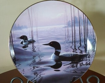 1993 Wild Wings Collector Plate: Witching Hour-Loons by Phil Scholer