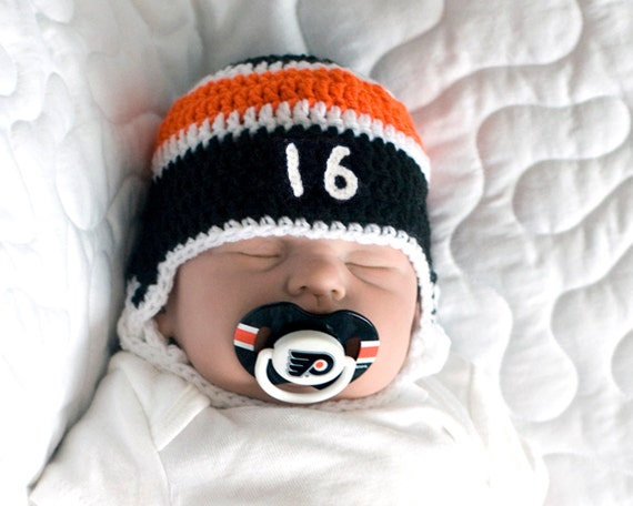 BABY HOCKEY HELMET Philadelphia Flyers pacifier not by ...