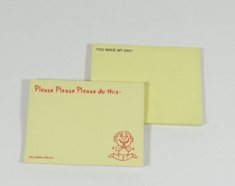 80s Sticky Notes - 1980s Post-It Notes - 80s Vintage Office