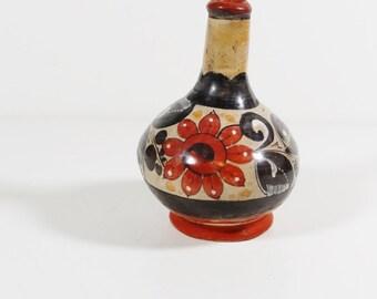 Vintage Burnished Mexican Folk Art Vase