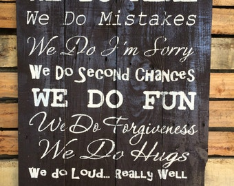 Family Rules | Rules Of the Family | In This House Pallet Sign | Vintage Family Rules | Our Family Rules | Rustic Family Rules