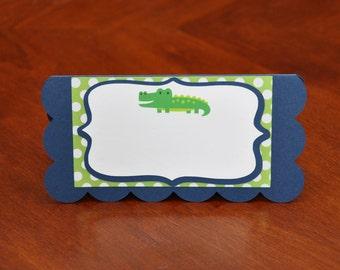 Alligator Food Labels Set of 6, Preppy Alligator Food Labels, Preppy Alligator Party