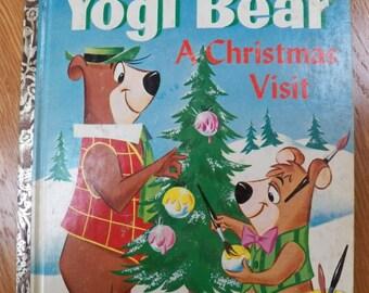 "Vintage LGB~Hanna-Barbara's-Yogi Bear-A CHRISTMAS VISIT #433 ""A"" First Edition"