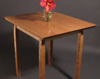 IN STOCK Elegant Cherry and Tiger Maple Side Table- Handmade Occasional Table- Solid Wood Furniture
