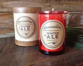 Winter Ale candle by Alcoholwicks Festive Ale Candle