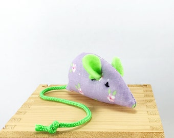 Cat toy, child toy, pocket pet, Easter cat toy, Easter child toy, spring mouse, lavender green pink