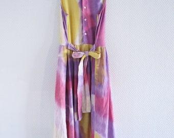 Dress Batik / hippie / tie dye / 70's