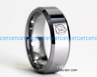 STAR TREK Tungsten and 925 Sterling Silver 115 Carat CZ
