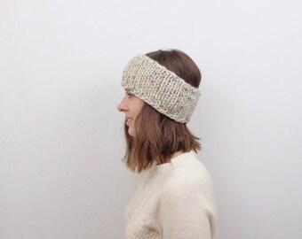 SALE Chunky Knit Headband / THE DULUTH / Oatmeal