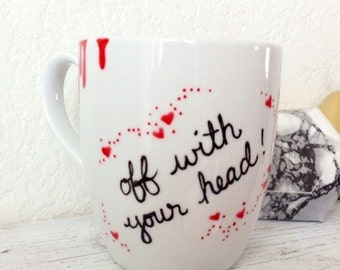 "Queen of Hearts ""off with your head"" Alice in Wonderland Mug"