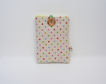 Polka Dot Ebook Cover, Kindle Cover, Nexus Sleeve, Nook Case, Kindle DX, Touch, Kindle 4, 5, 7, Kindle Voyage, Kindle Fire, Paperwhite Cover