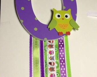 Custom Made Barrette Holder: Owl