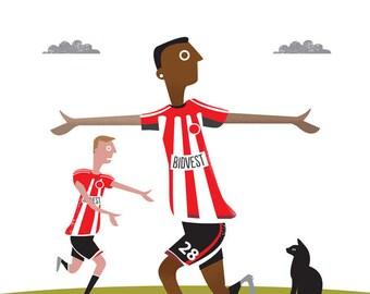 Sunderland FC card / Football card