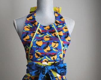The D A I S Y Apron | Halloween • Halloween Apron • Full Apron • Ladies Apron • Cooking Apron • Vintage Style • Gift Idea