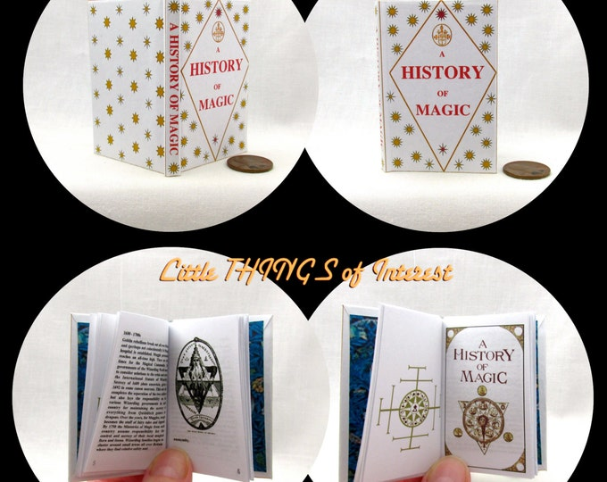 A HISTORY Of MAGIC Book in 1:3 Scale Readable Book AG Accessories Harry Potter 18 inch Ag Doll 1/3 Scale