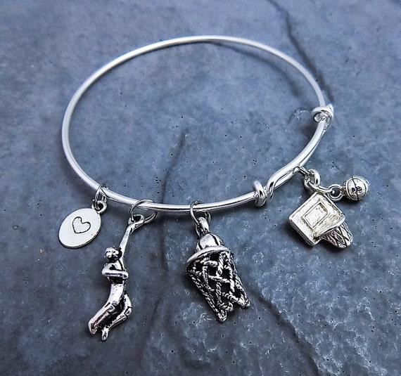 Basketball Bracelet / Adjustable Expandable Bangle Bracelet
