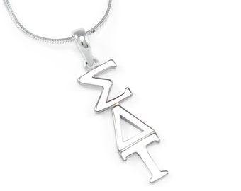 Sigma Delta Tau Sterling Silver Lavaliere // ΣΔΤ Sorority Jewelry // Sorority Gifts // Holiday Gifts // Greek life // ΣΔΤ Accessories //