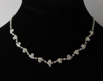 Bridal Necklace, Crystal Necklace, Bridal Jewelry, Bridal Accessory, Wedding Jewelry, Wedding Necklace, Rhinestone Necklace