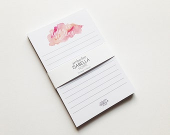 Notepad Watercolor Today Is The Day 50 Sheets Stationery Modern Home Dorm Stationery
