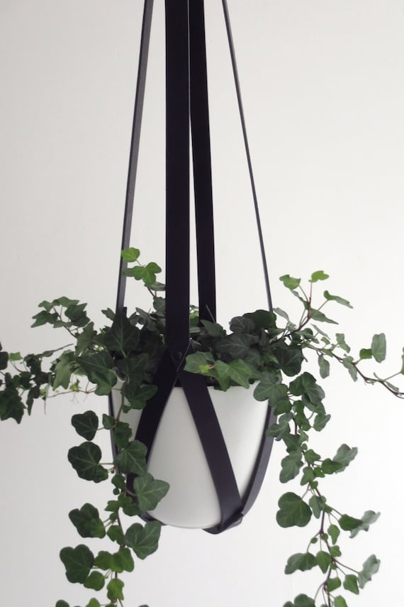 Modern Leather Plant Hanger Ceiling Planter Hanging By