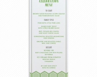 Modern Hexagon Printable Wedding Dinner Menu with Print-at-Home Thank You Card Print-ready Place cards and Geometric Table Number Card