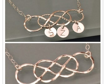 Double Infinity Necklace, Sterling Silver Double infinity necklace