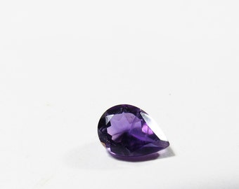 Natural Purple African Amethyst Gemstone, 7x5mm Pear Loose Faceted Amethyst, Purple Amethyst Pear Gemstone 7x5mm, 5x7mm Pear Purple Amethyst