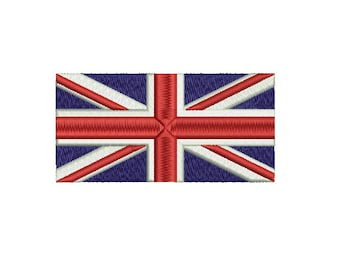 Machine Embroidery Design Instant Download - United Kingdom Flag Union Jack