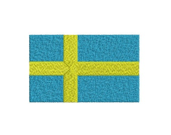 Machine Embroidery Design Instant Download -  Sweden Flag