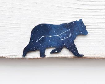 Ursa major brooch Bear brooch Wooden brooch bear Big Dipper brooch Gift for her Astrology brooch Lasercut wood pin Constellation Night sky