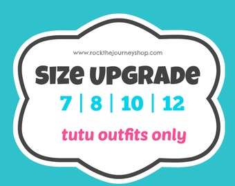 Size Upgrade Big Kids Tutu Outfits Only (size 7 8 10 12)