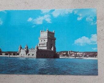 Vintage postcard from Portugal Lisboa Torre de Belem