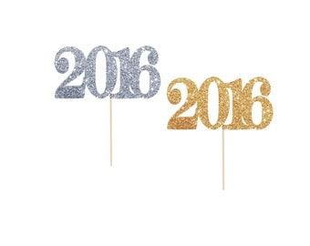 New Years Eve Decorations, Graduation Party Decorations, New Years Eve Party, New Years Eve Cupcake Toppers, 2017 or 2018 Cupcake Toppers