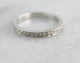 White Gold Channel Top Vintage Wedding Band MPX2H6-N