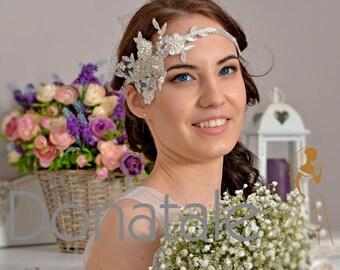Wedding headband, Wedding hair piece , Bridal headpiece, Wedding headpiece , Bridal headband- PALOMA