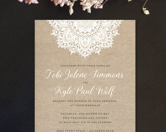 burlap and lace wedding invitations vintage lace invitations rustic barn wedding invitations country
