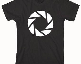 Shutter Logo shirt, camera, aperture, photography, gift idea - ID: 161