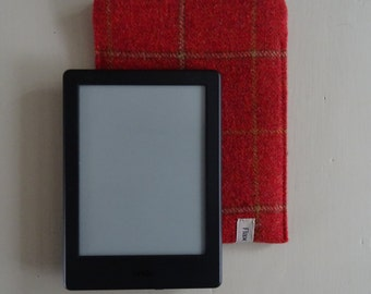 Kindle Sleeve Terracotta Shetland Plaid Wool
