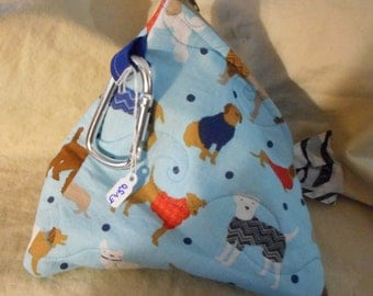 Quilted Blue Doggie Bag Bag (E 450, 455)