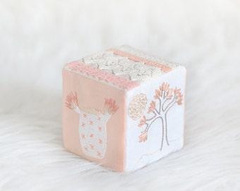 Handmade 'Elowen' Boho Baby Block, Heirloom Soft Toy, Personalized gift, Baby Shower Gift, California, Boho baby - MADE TO ORDER