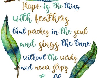 Art Print. Hope Is The Thing With Feathers