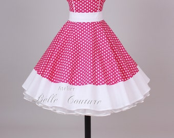 50s petticoat dress pink/white item: 1601