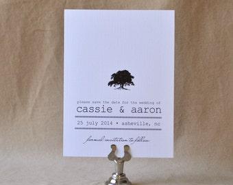 Oak Tree Save the Date, Modern Wedding, Wedding Save the Date Cards - Deposit Listing