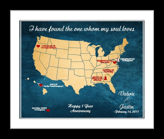35th Anniversary Gift Unique Map Art 35 Year By Printsinspired