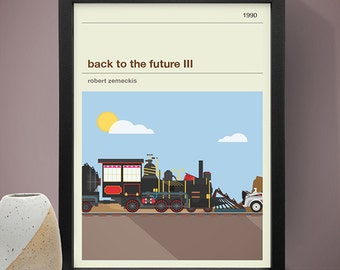 Back To The Future III Movie Poster Film Print